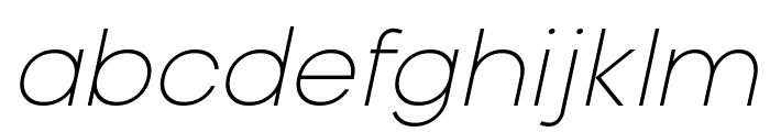 Typo Gotika Light Demo Italic Font LOWERCASE