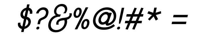 Typo Gotika Small Caps Demo Italic Font OTHER CHARS
