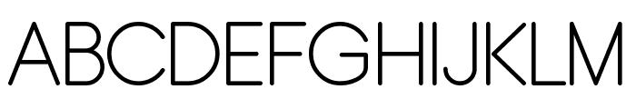 Typo Grotesk Rounded Light Font UPPERCASE