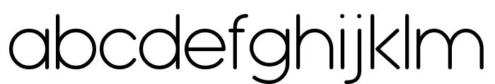 Typo Grotesk Rounded Light Font LOWERCASE