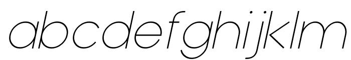 Typo Grotesk Thin Italic Font LOWERCASE