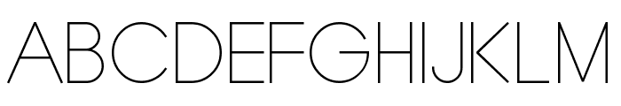 Typo Grotesk Thin Font UPPERCASE