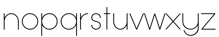 Typo Grotesk Thin Font LOWERCASE