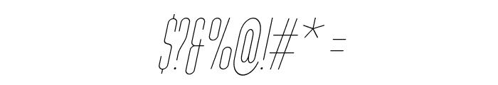 Typo-Longest Thin Demo Italic Font OTHER CHARS