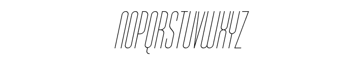 Typo-Longest Thin Demo Italic Font UPPERCASE