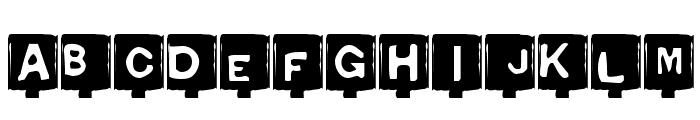 Typo Negative Font LOWERCASE