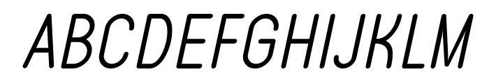Typo Quik Light Demo Italic Font UPPERCASE