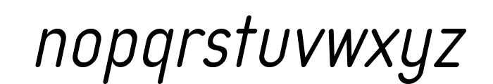 Typo Quik Light Demo Italic Font LOWERCASE