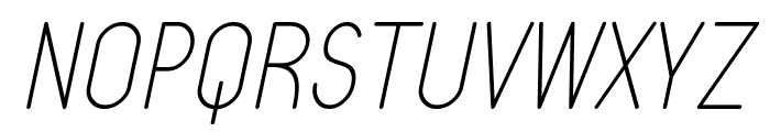 Typo Quik Thin Demo Italic Font UPPERCASE