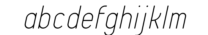 Typo Quik Thin Demo Italic Font LOWERCASE