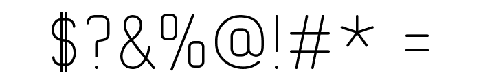 Typo Quik Thin Demo Font OTHER CHARS