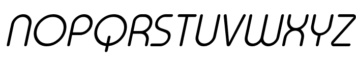 Typo Round Light Italic Demo Font UPPERCASE