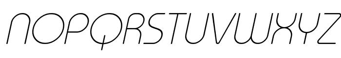 Typo Round Thin Italic Demo Font UPPERCASE