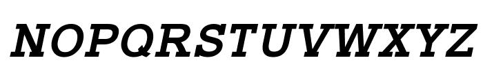 Typo Slab Bold Italic Font UPPERCASE