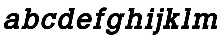 Typo Slab Bold Italic Font LOWERCASE