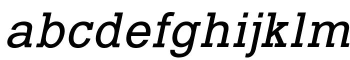 Typo Slab Italic Font LOWERCASE