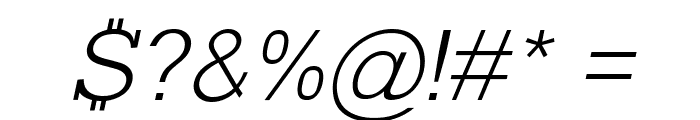 Typo Slab Light Font OTHER CHARS