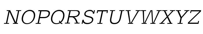 Typo Slab Light Font UPPERCASE