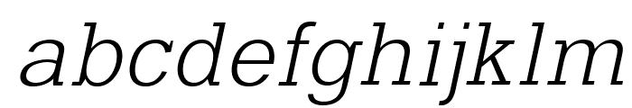 Typo Slab Light Font LOWERCASE