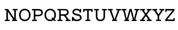 Typo Slab Font UPPERCASE