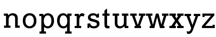 Typo Slab Font LOWERCASE