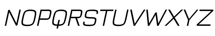 Typo Style Light Demo Italic Font UPPERCASE