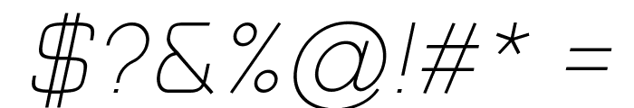 Typo Style Thin Demo Italic Font OTHER CHARS