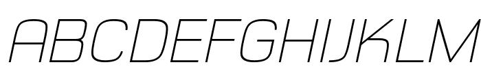 Typo Style Thin Demo Italic Font UPPERCASE