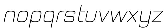 Typo Style Thin Demo Italic Font LOWERCASE
