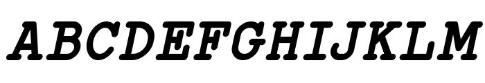 Typo Writer Demo Bold Italic Font UPPERCASE