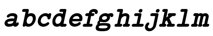Typo Writer Demo Bold Italic Font LOWERCASE