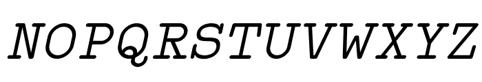 Typo Writer Demo Italic Font UPPERCASE