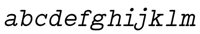 Typo Writer Demo Italic Font LOWERCASE