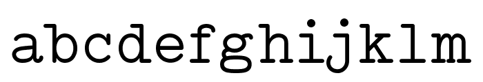 Typo Writer Demo Font LOWERCASE