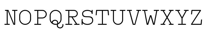 Typo Writer Light Demo Font UPPERCASE