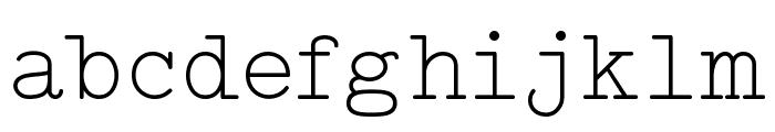 Typo Writer Light Demo Font LOWERCASE