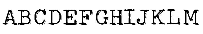 Typo Writer Shaky Demo Font UPPERCASE