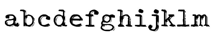 Typo Writer Shaky Demo Font LOWERCASE