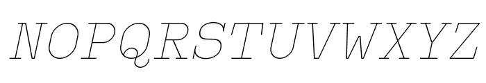 Typo Writer Thin Demo Italic Font UPPERCASE