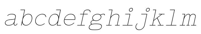 Typo Writer Thin Demo Italic Font LOWERCASE