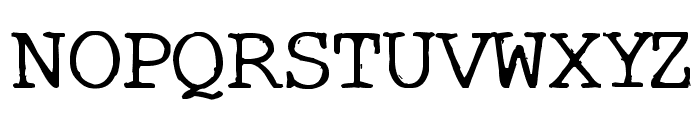 Typo Font UPPERCASE