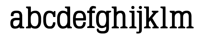 TypoLatinserif-Bold Font LOWERCASE
