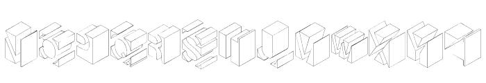 TypoNegative Font UPPERCASE