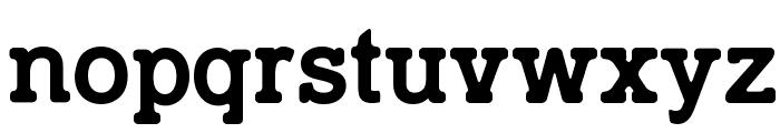 TypoSlab Irregular Demo Font LOWERCASE