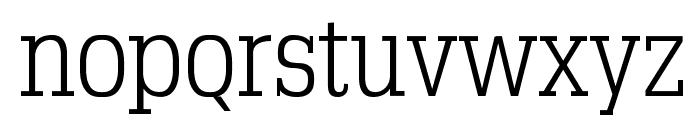 TypoSlabserif-Light Font LOWERCASE