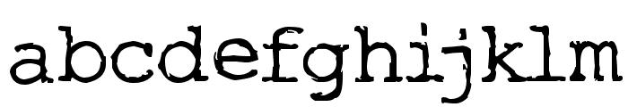 Typo Font LOWERCASE