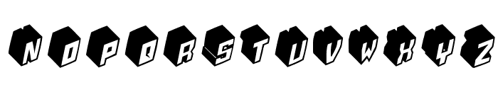 Typobricks-Bold Font LOWERCASE