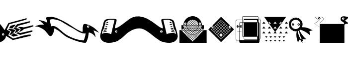 TypogrBanners Font LOWERCASE