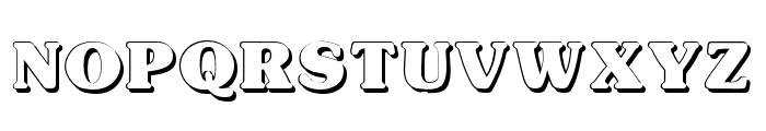 Typographer Subway Shadow Font UPPERCASE