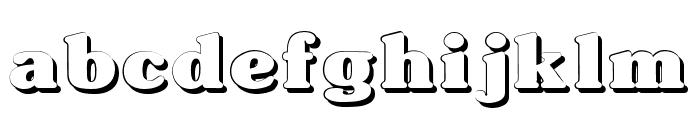 Typographer Subway Shadow Font LOWERCASE